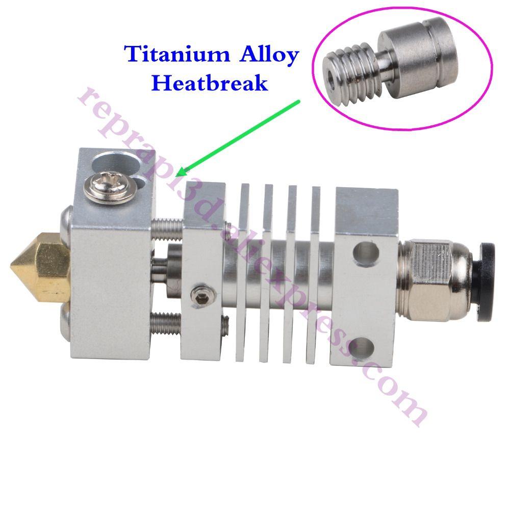 Micro Swiss All Metal Hotend Kit /300C Flexible Friendly Hotend CR10 w/ Titanium Thermal Heat break F/ Creality CR-10 3D Printer