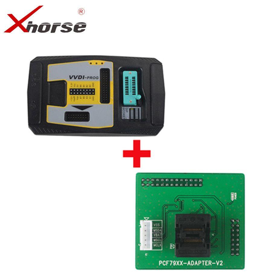 Original Xhorse VVDI PROG Programmer V4.7.6 VVDIPROG Get Free PCF79XX Adapter