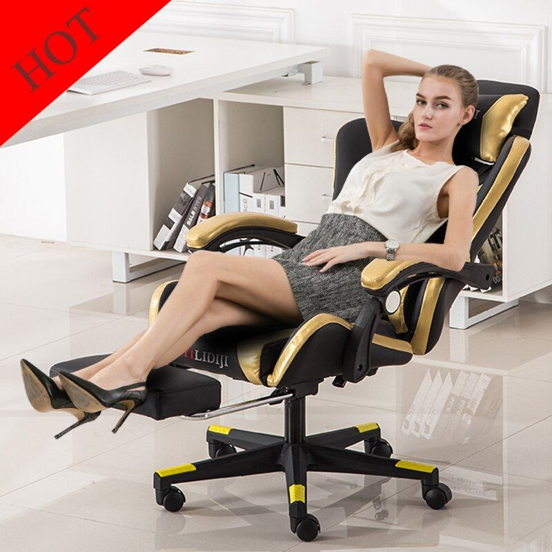 High Quality New Style Playing Chair Gaming Chair Household Reclining Computer Chair Office Lift Swivel Lying Chair