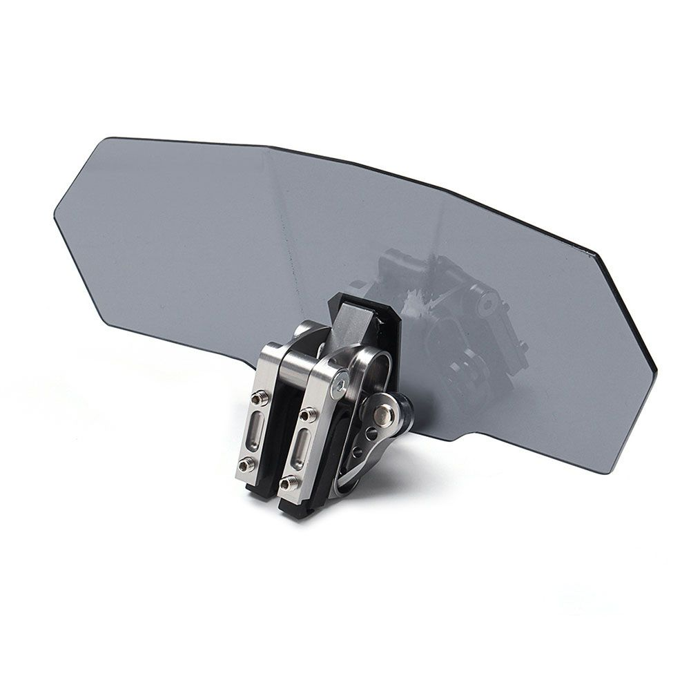 Universal Motorcycle Windshield Adjustable Clip-On Extension Spoiler Windscreen DXY88
