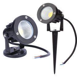 New Style COB Garden Lawn Lamp Light 220V 110V 12V Outdoor LED Spike Light 3W 5W 7W 10W Path Landscape Waterproof Spot Bulbs