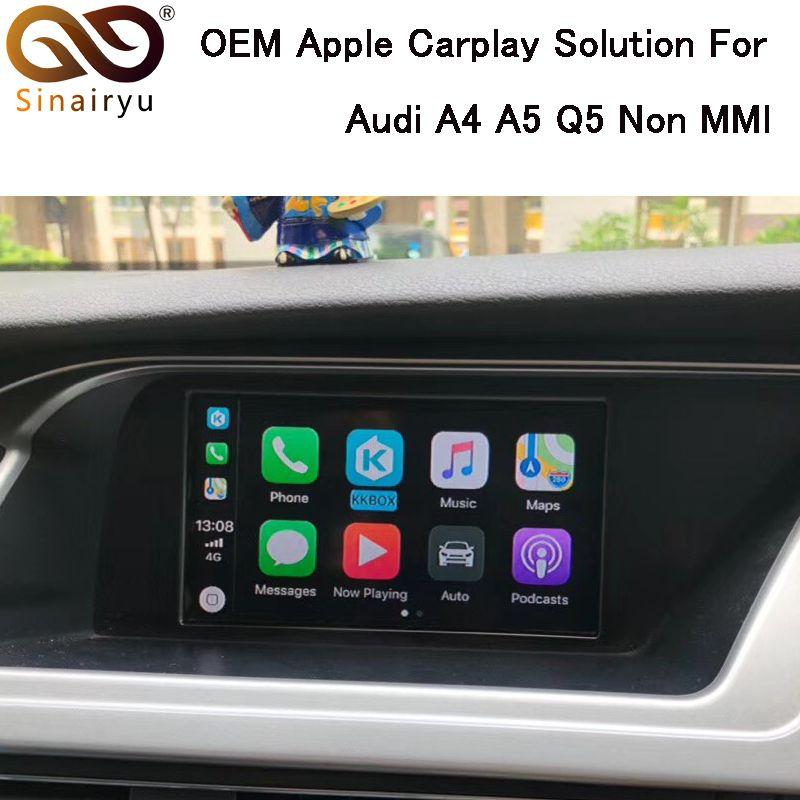 Sinairyu CarPlay Interface Aftermarket OEM Apple Carplay IOS Airplay Nachrüstung Upgrade A4 A5 Q5 S5 Nicht MMI für Audi