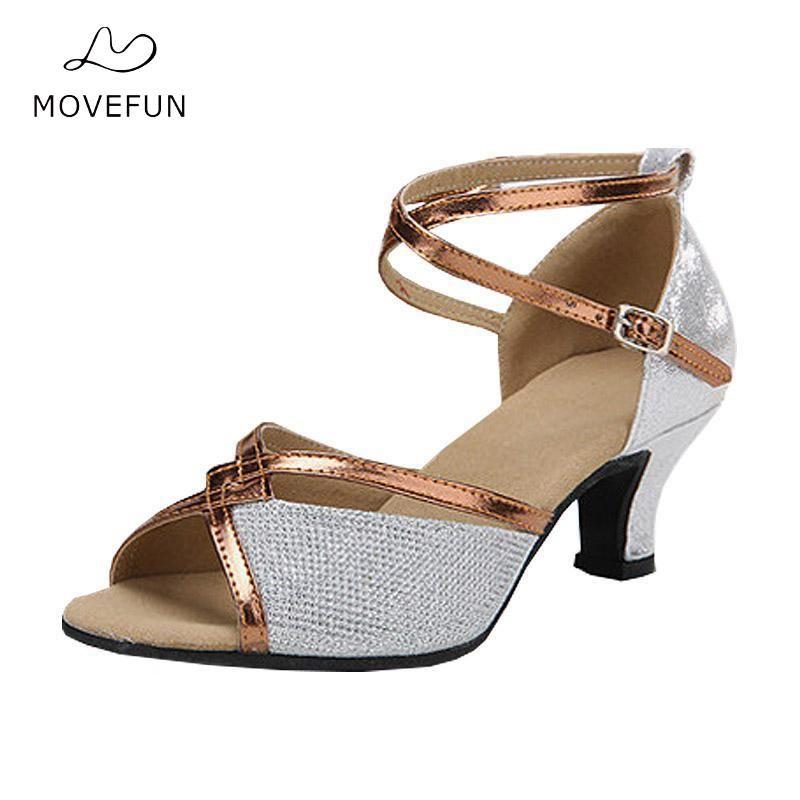 Women's Latin Dance Shoes Salsa Party Ballroom Dancing Shoe Girl's Dance Sandals Heel 5cm