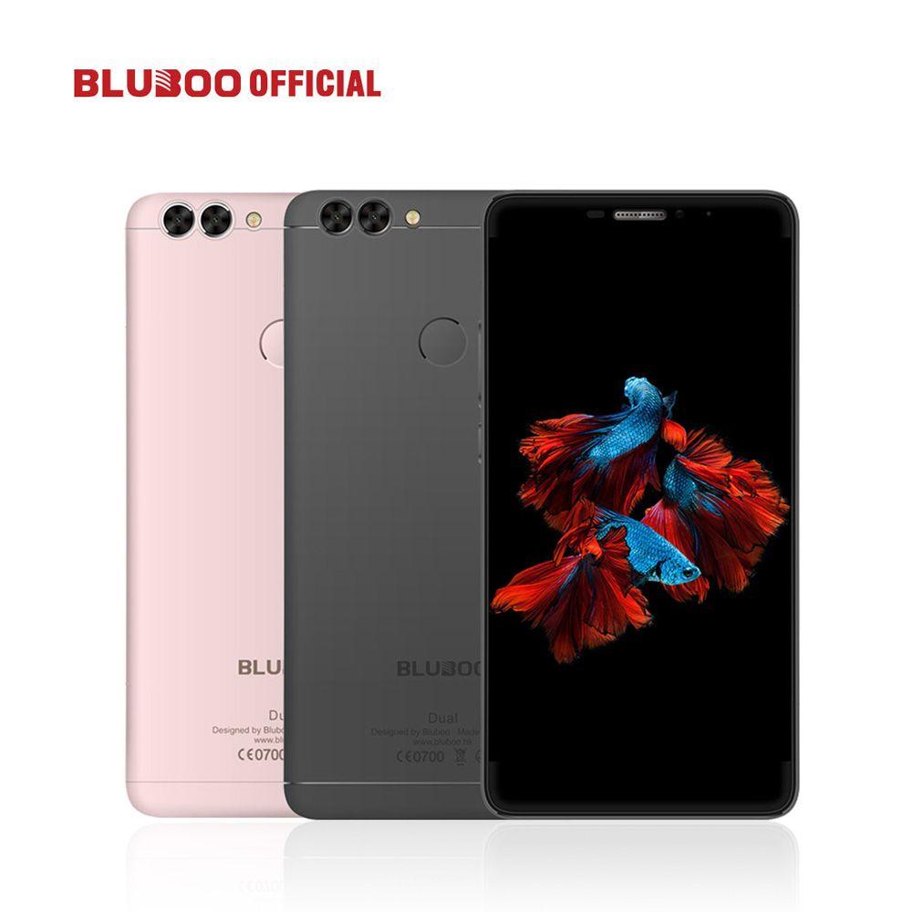 BLUBOO Dual 5.5 FHD 4G LTE Smartphone <font><b>MTK6737T</b></font> Quad Core 2G RAM 16G ROM Android 6.0 13MP Dual Back Camera 3000mAh Mobile Phone