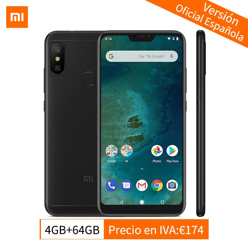 Global Version Xiaomi Mi A2 Lite 4GB 64GB Mobile Phone Snapdragon 625 Octa Core 5.84
