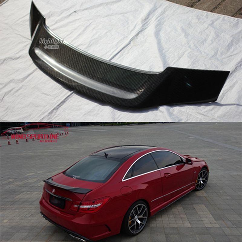 W207 C207 Carbon Faser Stamm Spoiler R Stil Flügel Für Mercedes E Klasse Coupe 2010-2016 E200 E250 E300 e350
