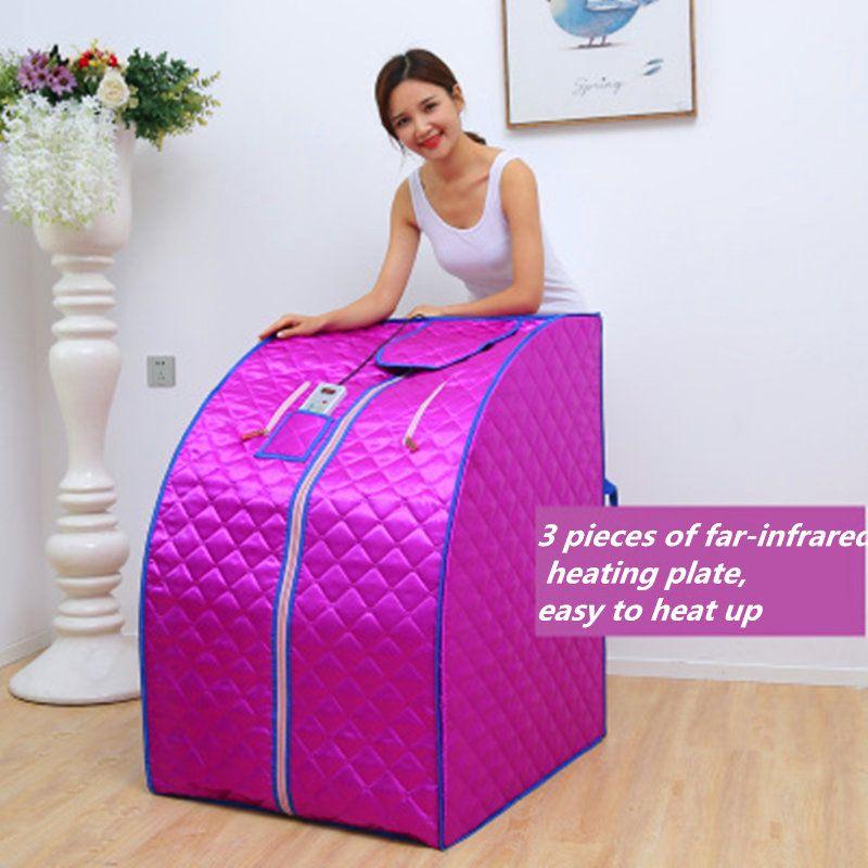 Fir Infrarot Sauna Gewicht Verlust Negative Ionen Detox Therapie Persönliche Tragbare Sauna Zimmer Klappstuhl Kabine Zimmer Sauna heizung