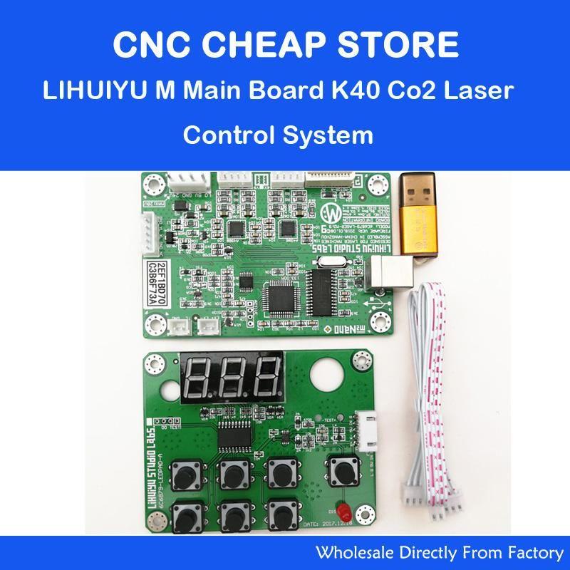 LIHUIYU M2 Nano Laser Controller Mutter Hauptplatine + Control Panel + Dongle B System Stecher Cutter DIY 3020 3040 k40