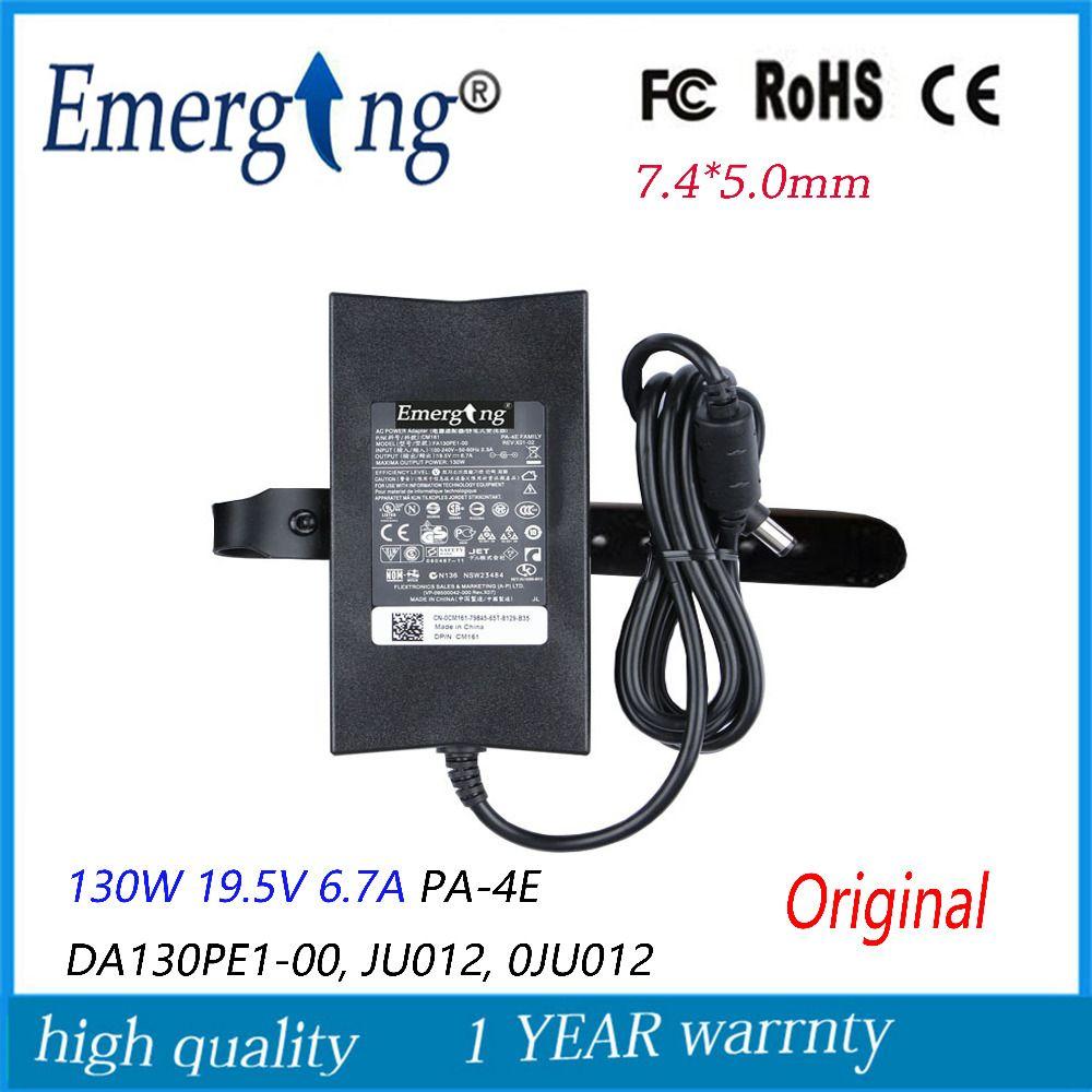 130 Watt 19,5 V 6.7A 7,4mm * 5,0mm Ursprüngliche Slim AC Laptop Adapter Für Dell ladegerät Notebook PA-4E DA130PE1-00, JU012,