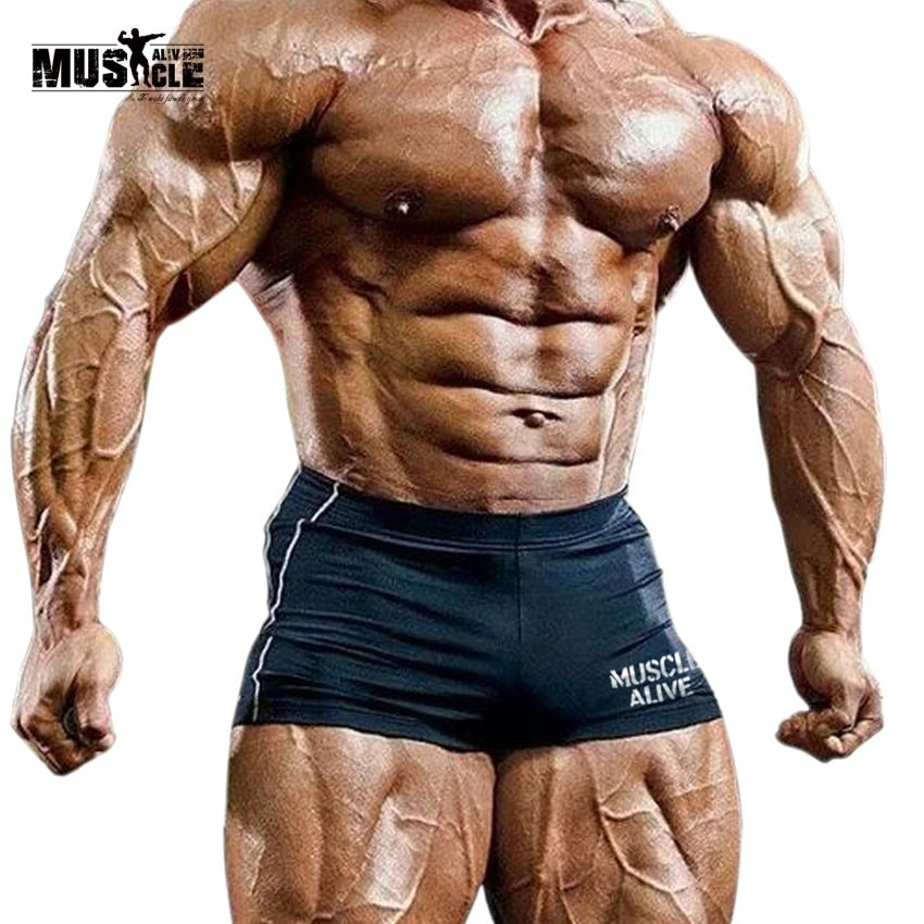 MUSCLE living Slim homme Short de Compression court Masculino homme musculation Leggings vêtements actifs bermudas masculina de marca
