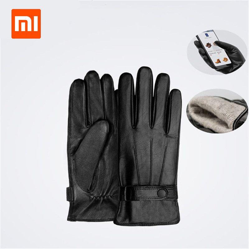 Xiaomi Qimian Lambskin Touch Screen Gloves Spanish Raw Winter Autumn Thicken Warm unisex for driving,moto,fishing