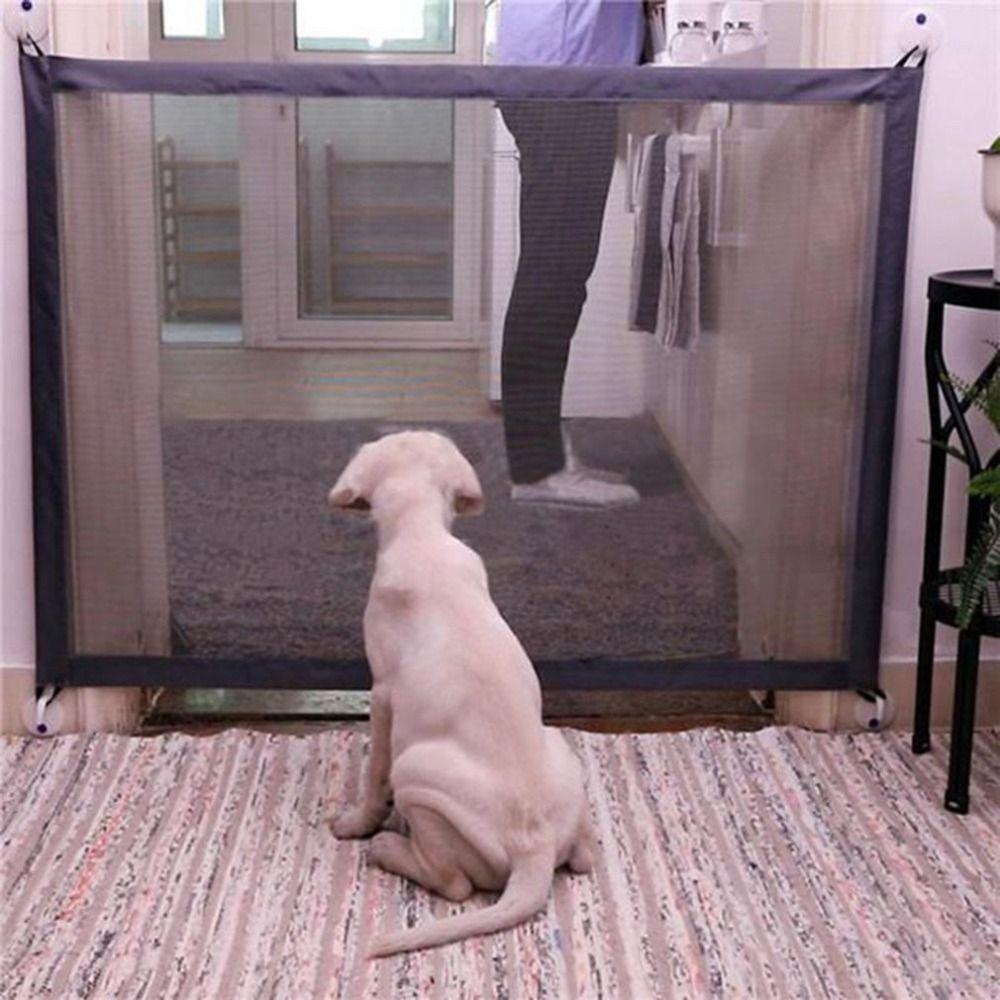 Barrière magique de barrière de maille de porte de chien d'animal familier barrière de garde de séparation de sécurité clôtures pliantes portatives de chien pour de petits Suppllies de grand chien
