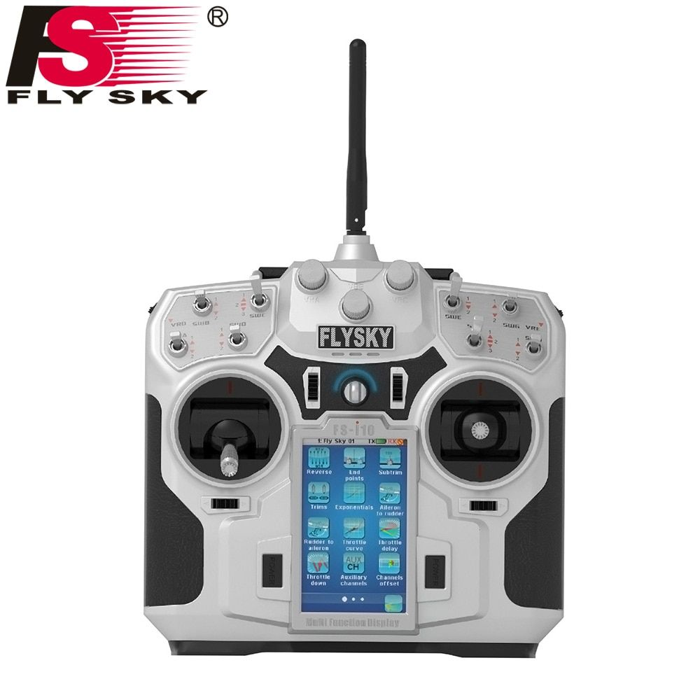 FLY SKY FS-i10 2.4G 10CH AFHDS 2A Automatic Frequency Hopping Transmitter+FlySky FS-iA10B 2.4G 10CH Receiver for RC Quadcopter
