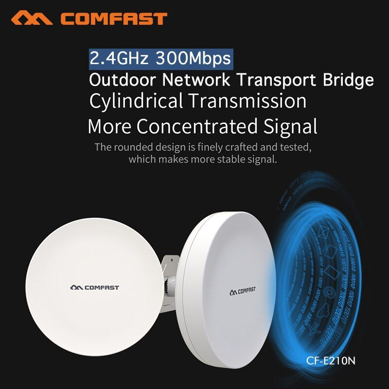 Wireless Outdoor CPE WIFI Router 300Mbs Access Point AP Router WIFI Bridge WIFI Repeater WIFI Extender Support WDS 2PCS CF-E210N