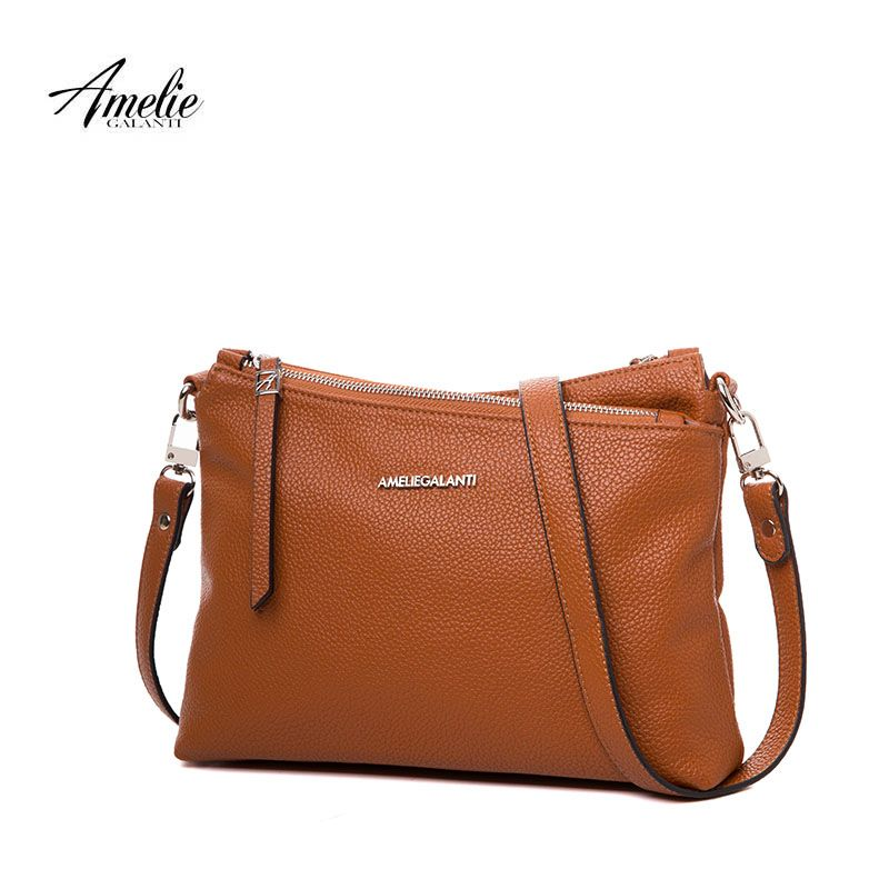 AMELIE GALANTI casual messenger bags for women new flap crossbody bag european and american style soft zipper solid none 2017