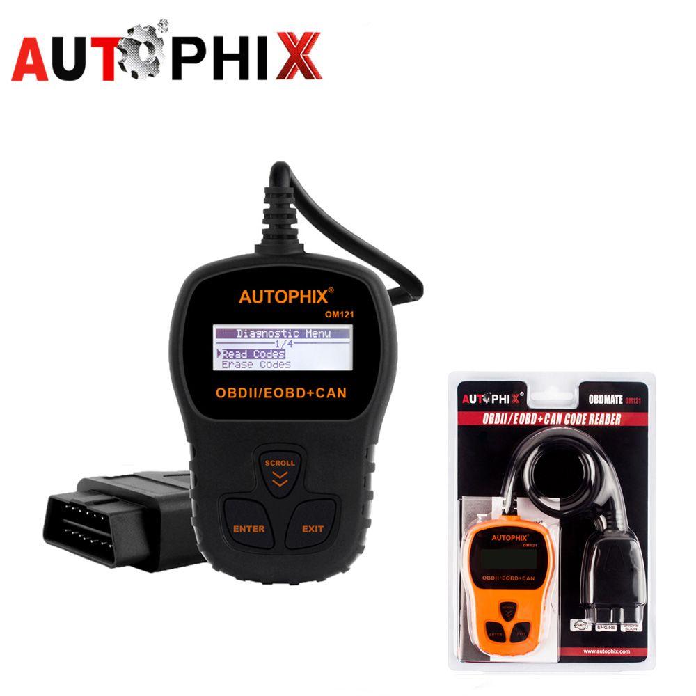 AUTOPHIX om121 ОДБ 2 Автосканер автомобиля диагностический сканер БД автомобильной сканер OBD2 сканер odb2 сканирования Инструменты Читатели код autosca
