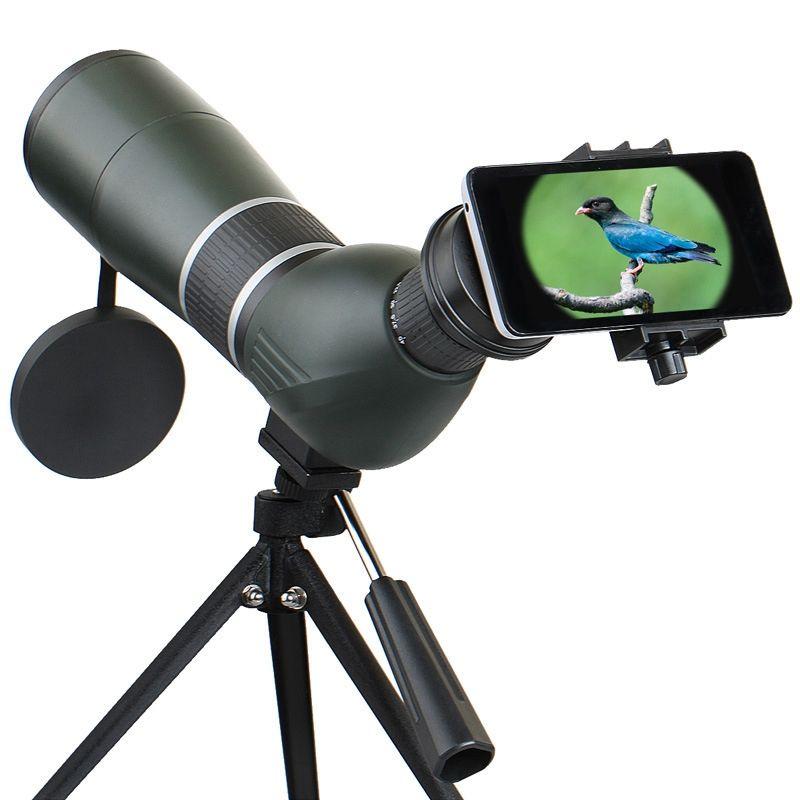 12-36X 50A/15-45X 60A Zoom Monoculaire Télescope Lentille Observation Des Oiseaux HD Optique Téléphone Camera Lens Vue Oculaire + Réglable trépied