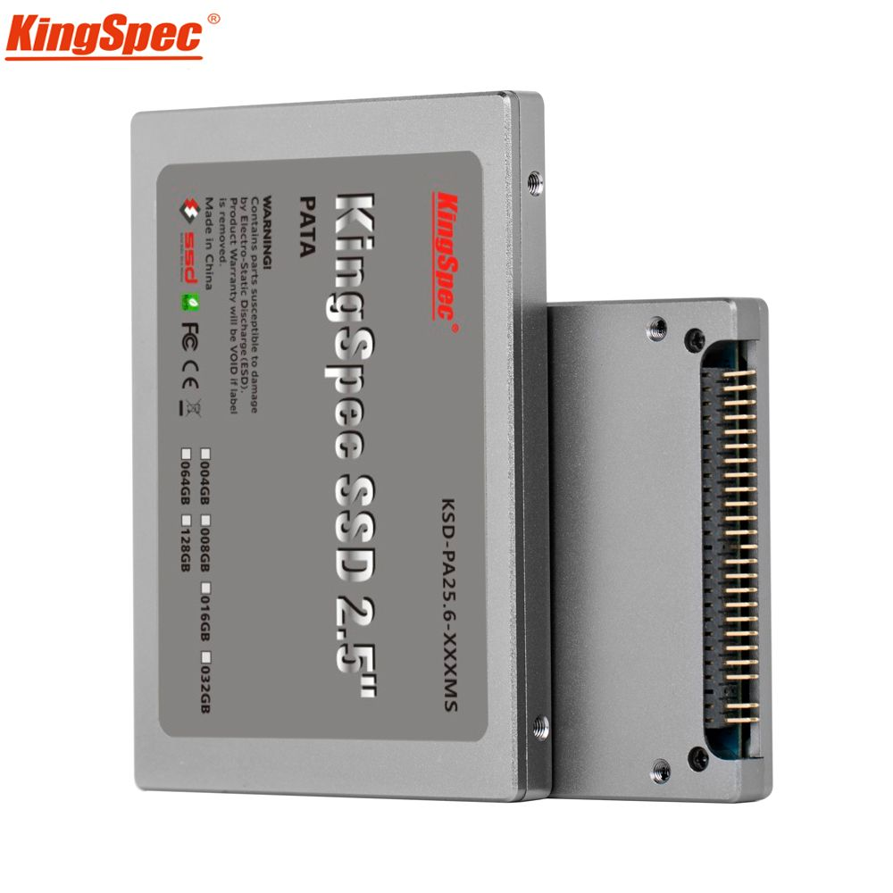 Kingspec 2.5 inch PATA 44pin IDE ssd 16GB 32GB 64GB 128GB 4C MLC Flash Solid State Disk hd Hard Drive IDE for Laptop Desktop