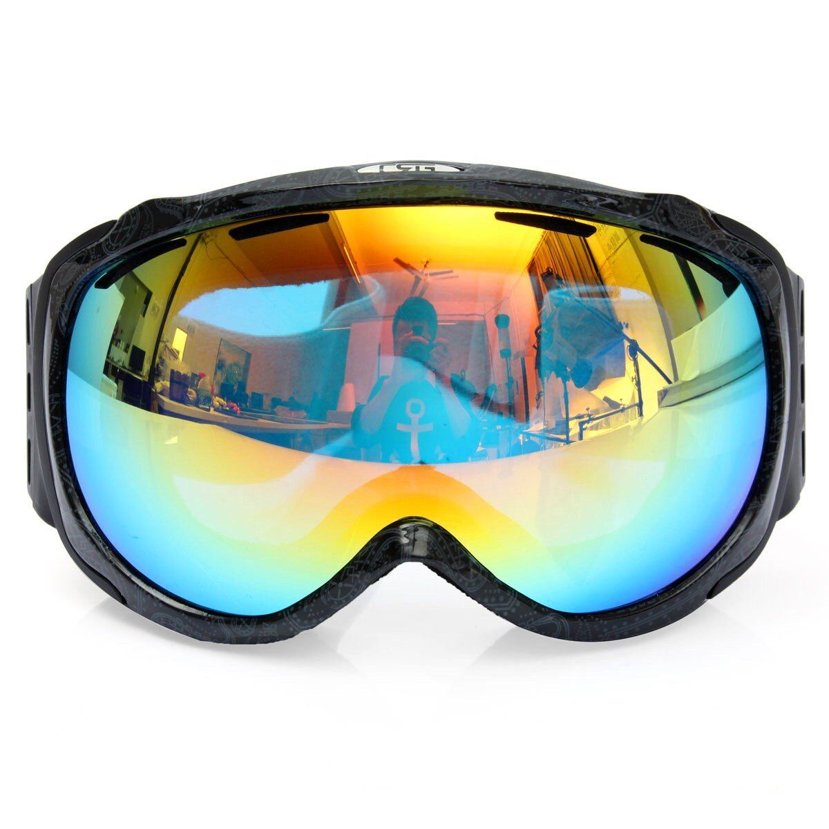 Unisex Professional Spherical Anti-fog Dual Lens Outdoor Snowboard Ski Goggles Eyewear Two Colors
