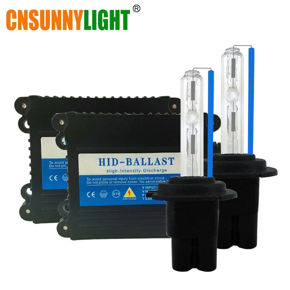 CNSUNNYLIGHT Xenon Hid Conversion Kit 35W H1 H3 H7 H8 H10 H11 H9 9005 9006 HB3 HB4 Lamp w/ Slim Ballast Block for Car Headlight