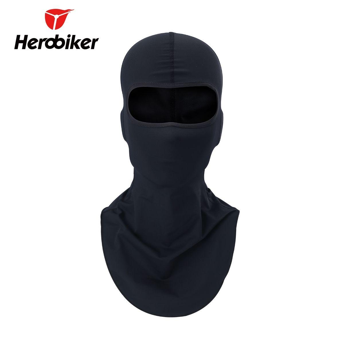 HEROBIKER black Motorcycle Balaclava Sports Biker Motorbike Neck Warmer Sun-protection Headwear Full Face Mask Headgear