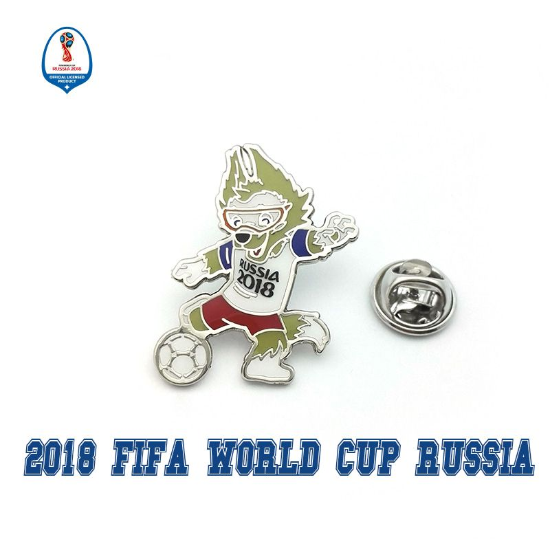 Official authorized 2018 football Russia Zabivaka mascot badge fan souvenir limited edition authentic football gift