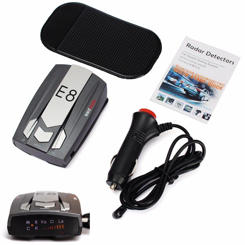 E8 Car Radar Detector Anti-Police LED GPS Radar Laser Speed Detector With 16 B and X K NK Ku Ka Laser VG-2