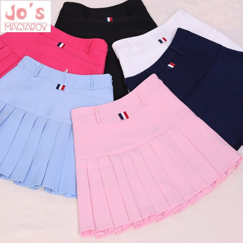 Taille haute jupes plissées Kawaii Harajuku jupes femmes filles lolita a-ligne marinière jupe grande taille Preppy école uniforme