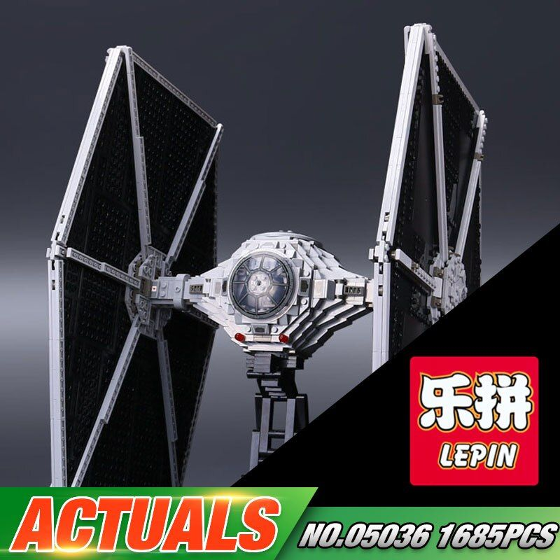 NEW 1685Pcs LEPIN 05036 Star Series War Tie Model Fighter Set Building blocks Bricks Classic Compatible with 75095 Boys Gift Toy