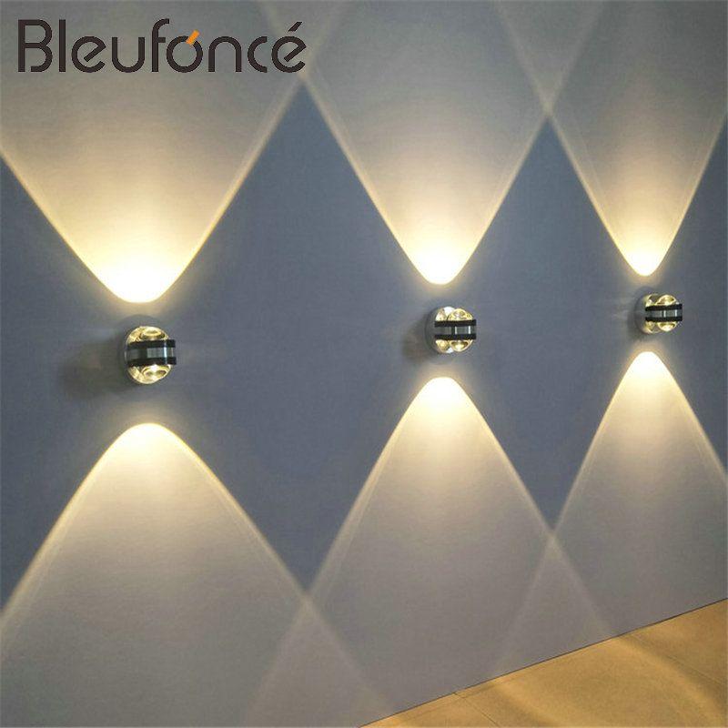 6W LED en Aluminium applique murale LED éclairage intérieur luminaire applique murale pour chevet salon chambre lampes murales BL6003