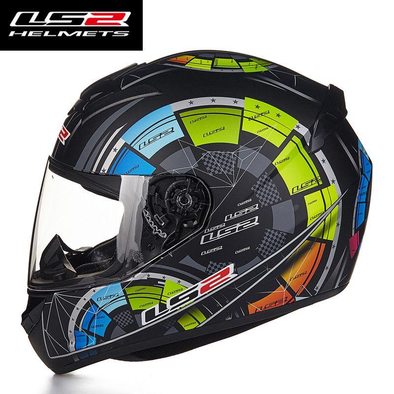Hot Sale LS2 FF352 Motorcycle Helmet Skull Full Face Mens Racing Helmets ECE Approved Capacetes Casco Moto L XL XXL Size
