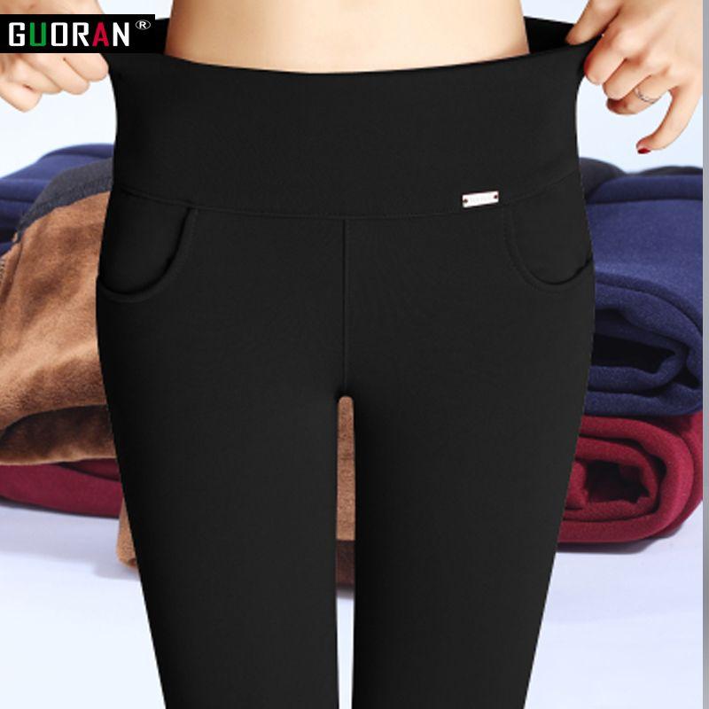 S-6XL hiver chaud 2018 taille élastique haute décontracté stretch Skinny crayon pantalon femmes pantalon grande taille vêtements femme Leggings