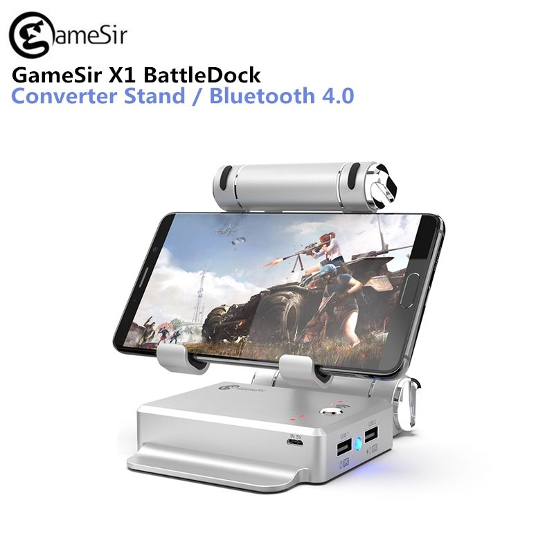 GameSir X1 BattleDock Converter Keyboard and Mouse Adapte for PUBG Mobile games, AoV,Mobile Legends, RoS, Knives Out, Free Fire