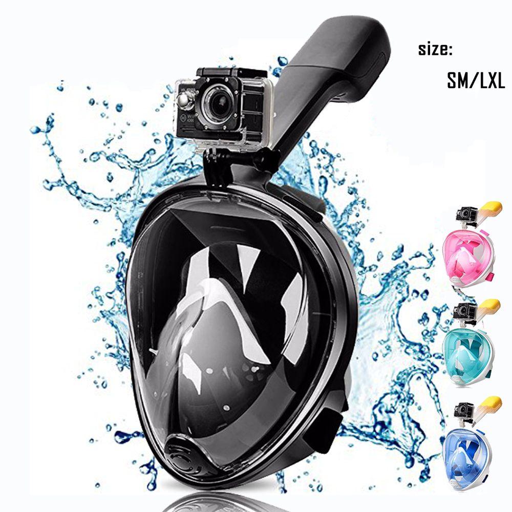 Full Face Snorkeling Diving Mask Set <font><b>Underwater</b></font> Swimming Training Scuba Swimming Equipment Snorkeling Mask For kid Adult