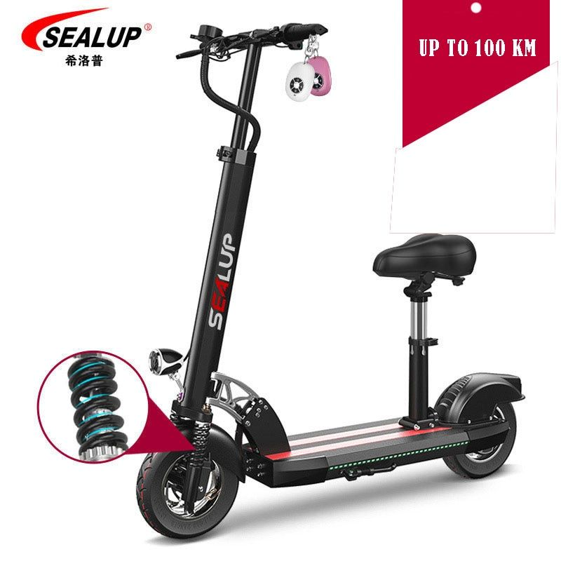 Smart Electric Scooter foldable 100 km mileage with seat for children Electric skateboard for adults