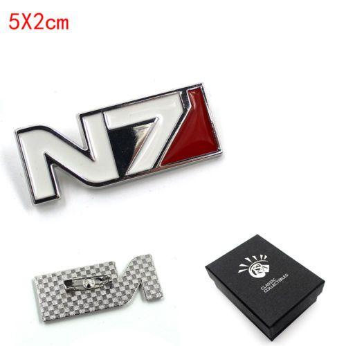 Spiel Mass Effect N7 Symbol Metall Abzeichen Pin Button Brosche Brust + Souvenir Box Ornament Cosplay Sammlung Otaku Geschenke Kühlen
