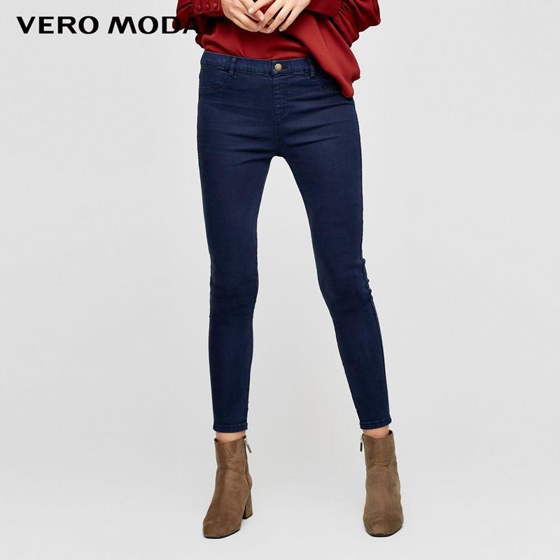 Vero Moda pantalon en jean stretch à coupe étroite femme | 316449501