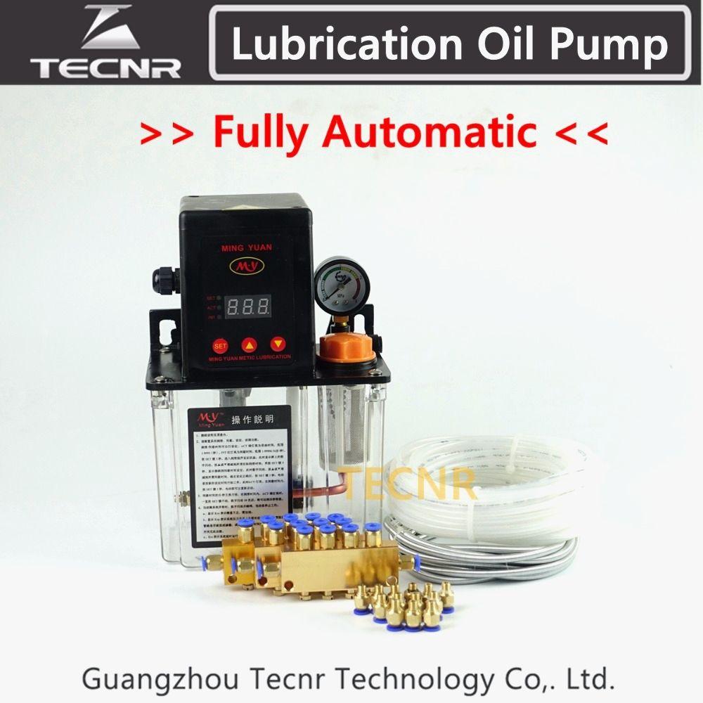 TECNR Full set CNC Automatic Lubrication oil pump 1.5L digital electronic timer gear pumps for cnc machine