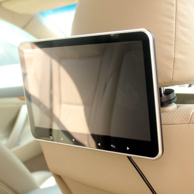 Super mince 10 pouces voiture appuie-tête multimédia MP4 MP5 lecteur vidéo HD écran moniteur avec USB SD HDMI AV Slot et FM transmetteur