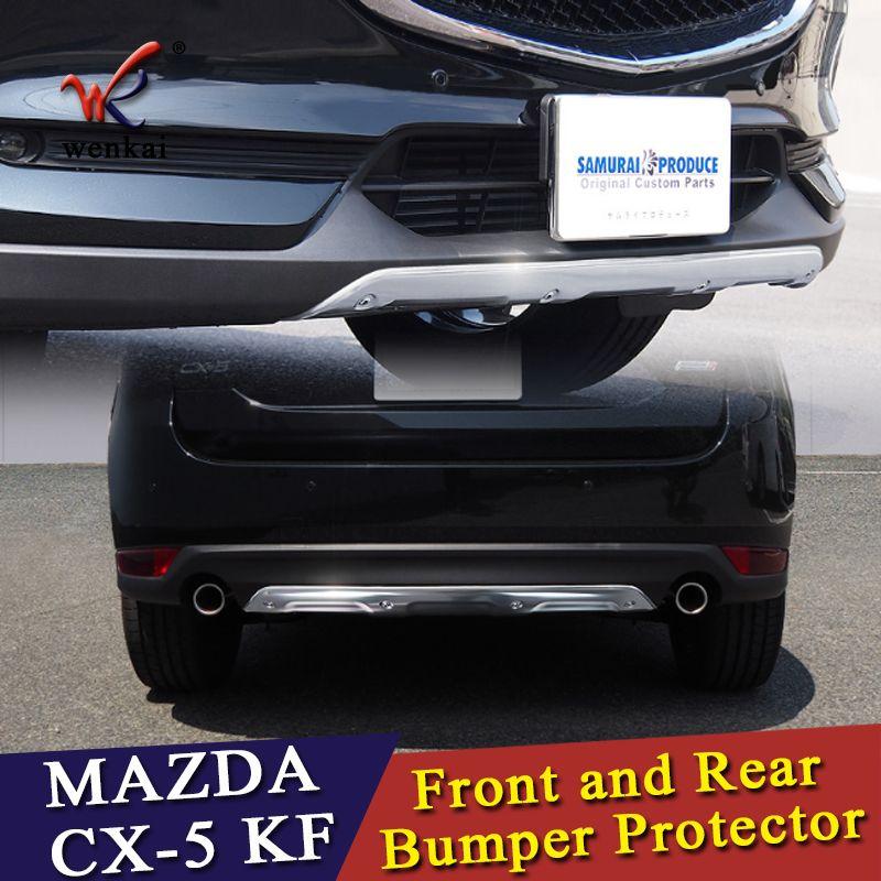 WK 304 edelstahl Vorderen und Hinteren Stoßfänger Schutzplatte Sill Schutz für Mazda CX-5 CX5 KF 2017 2018