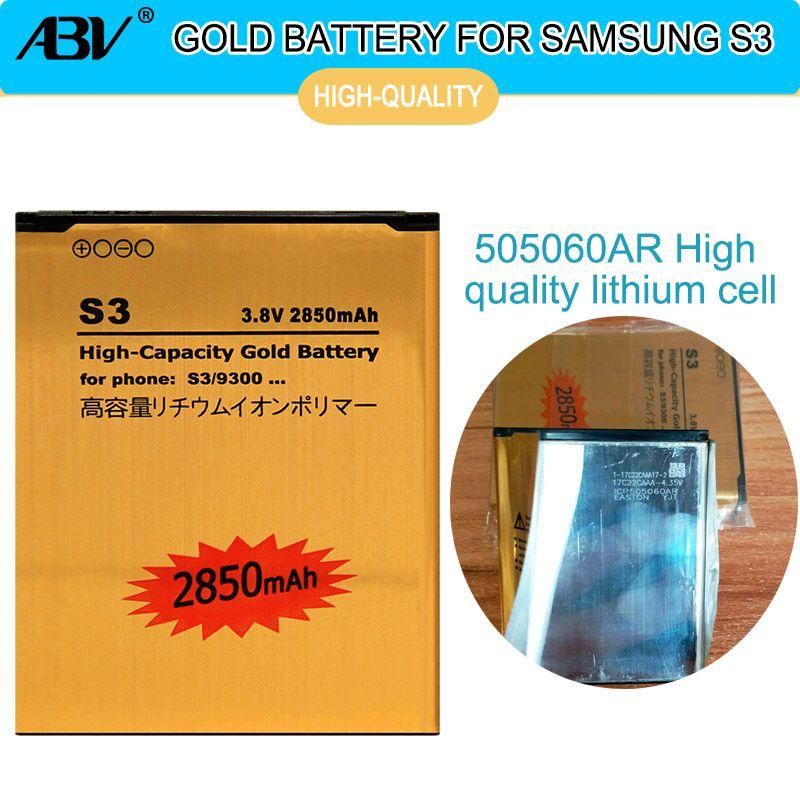 ABV glod Haute Capacité batterie EB-L1G6LLU Pour samsung batterie Galaxy S3 i9300 i9305 i879 T999 i9082 9300 Rechargeabl batterie