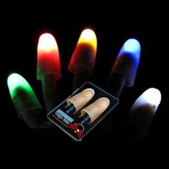 AKDSteel 1 para Kreative Magie Laser Handschuhe LED Licht Magie Trick Finger Lichter für Dance-Party Requisiten Neuheit Beleuchtung