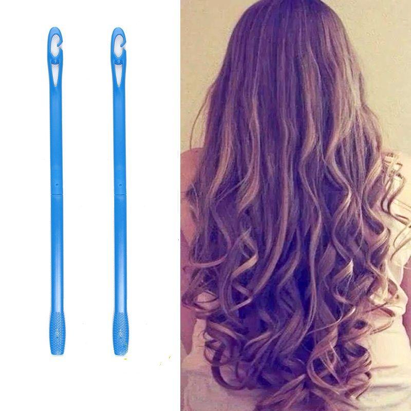 18/20 pièces 20/45/55/65 cm plastique Long diamètre 2.5 cm magique cheveux bigoudi magique rouleau de cheveux spirale boucles utilisation facile
