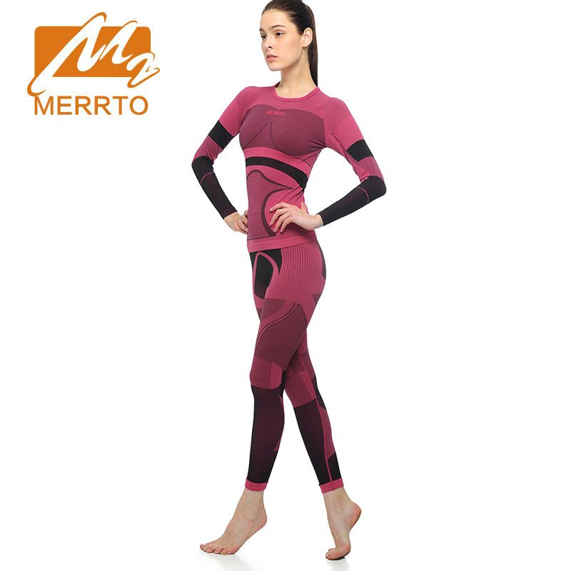 MERRTO Yoga Sets Running Set Quick Dry Women Trucksuit Long Sleeve Workout Sports Compression High QualityTights Gym Clothing