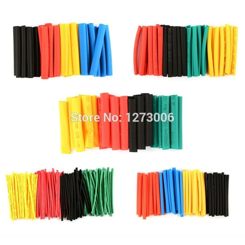 New 280Pcs 8 Sizes Colorful PE 2:1 Heat Shrink Tube Car Wrap Sleeve Tubes Electrical Insulation Cable Tubing For Car-styling