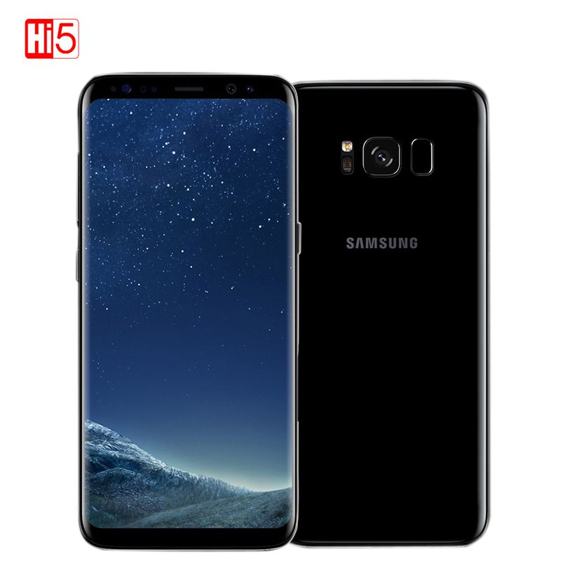 Unlocked Samsung Galaxy S8 4GB RAM 64GB ROM Single Sim Octa Core 5.8-inch display android Fingerprint Smartphone mobile phone