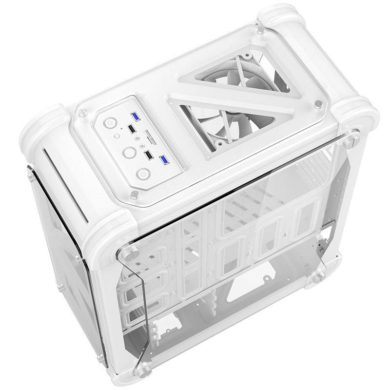 Blizzard Computer Fall Chassis für Desktop Mit Acryl Transparent Bunte Box ATX Computer Box Einfache Gaming Turm