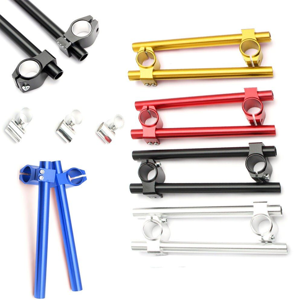 2pcs Universal Racing Adjustable CNC 26MM 30MM 31MM 33MM Clip On Ons Fork Handlebars Handle Bar for Cafe Racer Motorcycle D35