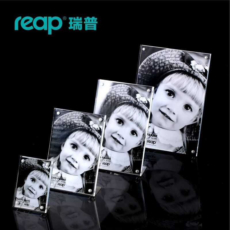 Reap Mag acrylique l-forme aimant bureau signe titulaire carte présentoir table menu cadre photo pour magasin maison restruant