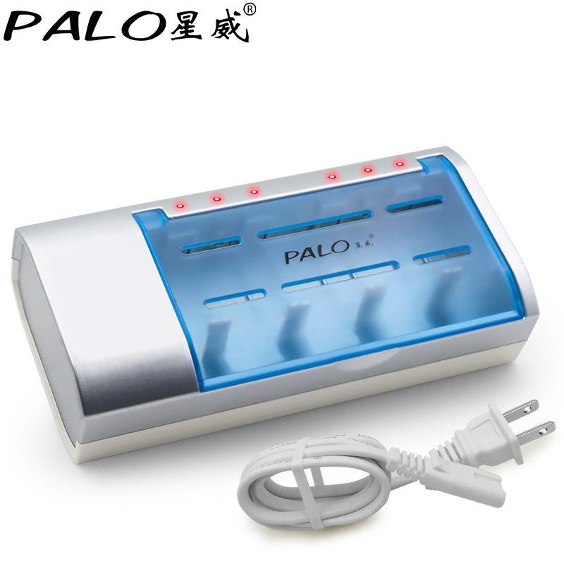 PALO à Temps Constant Batterie Chargeur Bateria Minuterie Contrôle 9.5 heures Chargeur Pour Nimh Nicd AA/AAA/SC/ c/D/9 v Rechargeable Batteries
